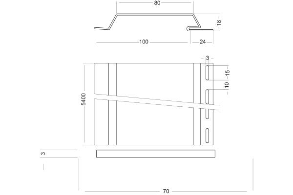 Facade profile 100, design