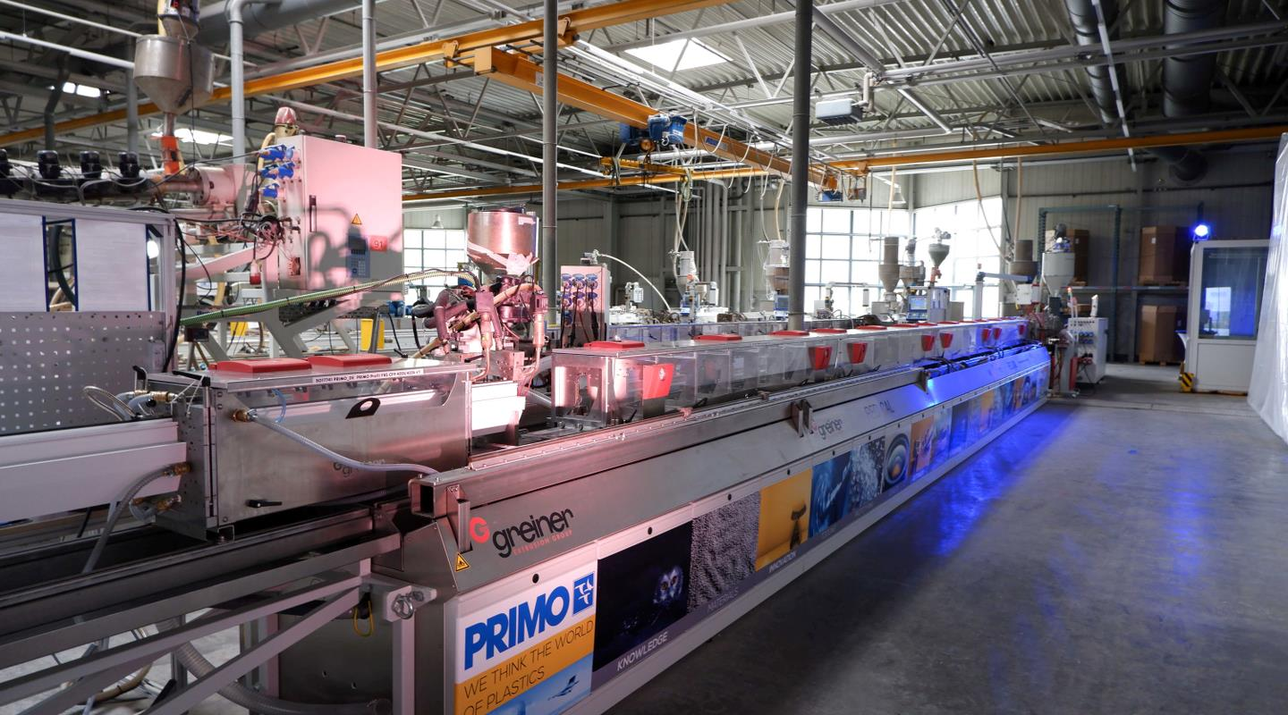 The new extrusion line at Primo in Berlin